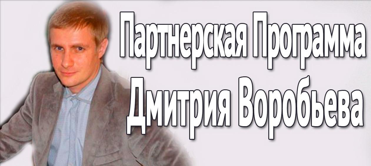 Партнёрская программа Дмитрия Воробьёва